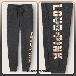 VS Pink Dark Gray Gold Skinny Jogger Pants